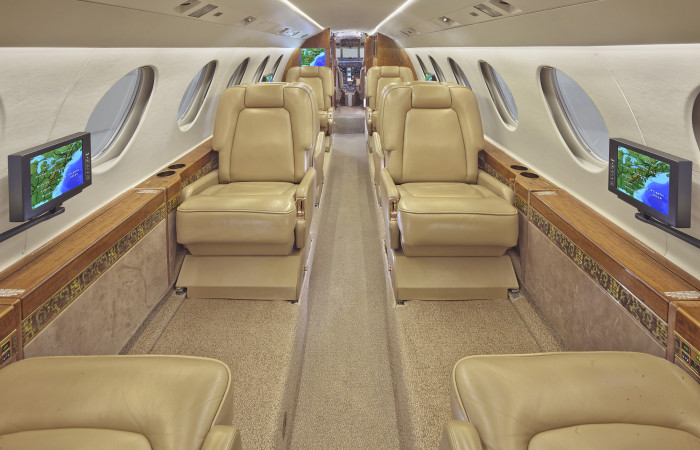 Falcon Jet 50 Aircraft Interior Cabin, Cockpit, Galley; Lavatory; Seats and woodwork and Exterior Photos