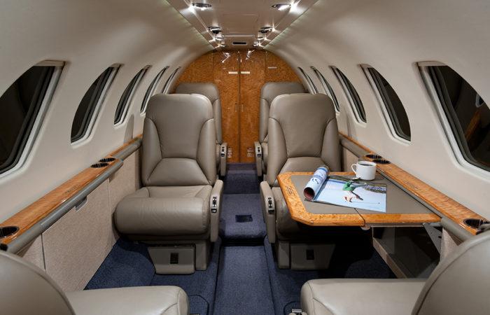 Cessna-Citation-V-Aft facing cabin