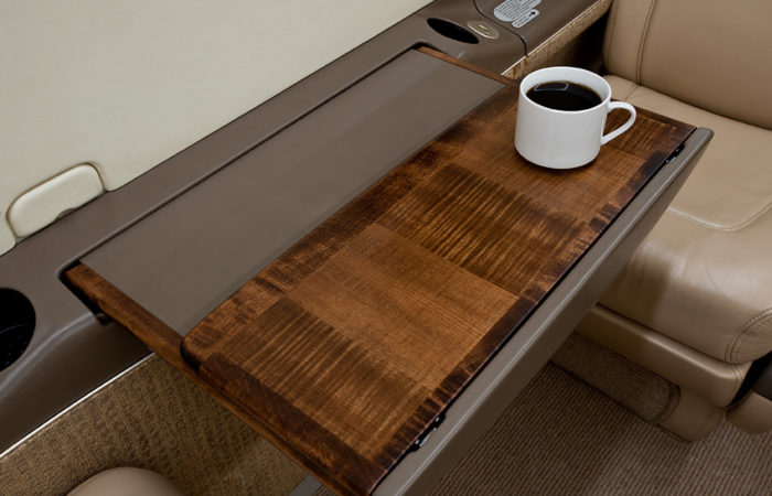 Pilatus executive table close up-Web