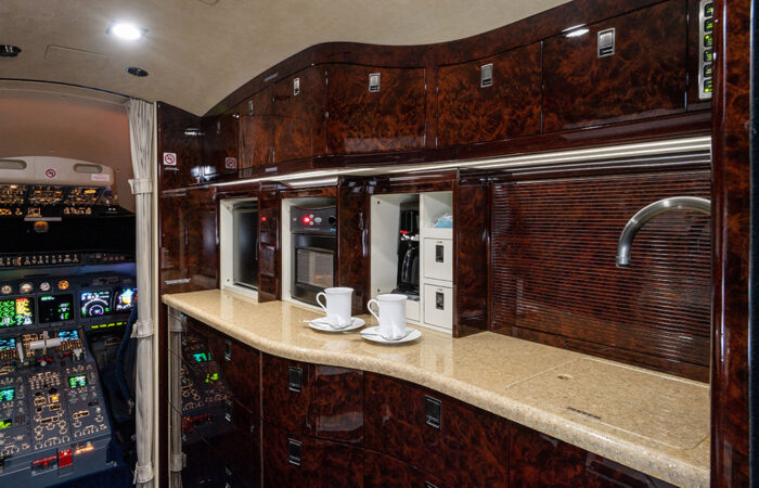 CL604 Forward Galley with Microwave, Coffee-Web
